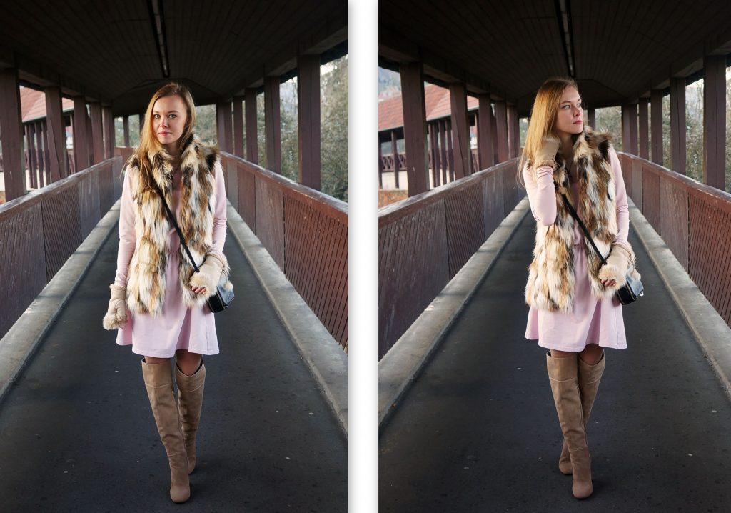 fur-vest-pink-dress1